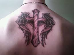 gensther tattoo cross tattoo shoulder blade tattoo design and art