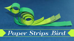 paper bird kids crafts how to make a bird with paper strips