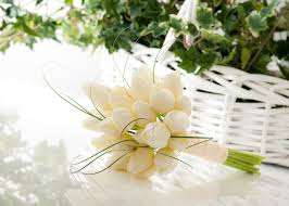 wedding flowers tulips white tulip wedding bouquets simply tulip in white