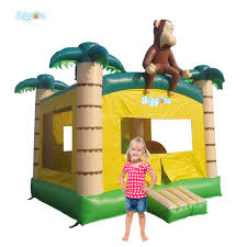 tropical inflatable monkey bounce house backyard inflatable air