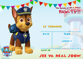 free printable paw patrol invitation template u2013 all characters