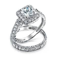 Price Of Wedding Rings by Wedding Rings Sterling Silver Wedding Sets For Her The Low And