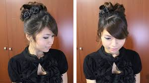 barrel curl ponytaol classic prom hairstyle updo pin curly hair tutorial youtube