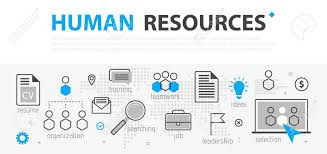 hr strategy template human resources web banner concept outline line business icon