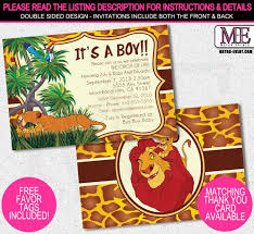 lion king themed baby shower themes inexpensive lion king themed baby shower invitation