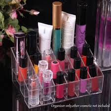 nc clear acrylic 24 lipstick holder display stand cosmetic storage