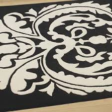 Damask Bath Rug Black And White Damask Rug Cievi U2013 Home