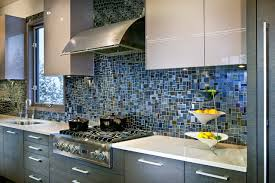 blue tile backsplash kitchen blue tile backsplash also white quartz kitchen countertops in