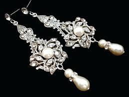 Chandelier Pearl Earrings For Wedding Bridal Earrings Pearl Wedding Earrings Wedding Jewelry Chandelier