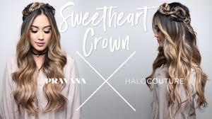 pravana halocouture sweetheart crown braid