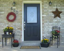 Front Porch Column Covers by Mesmerizing Design Ideas Using Rectangular Black Wooden Doors And