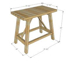 ana white truss end table diy projects
