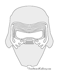 Free Printable Halloween Masks by Kylo Ren Mask Stencil Free Stencil Gallery