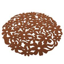 Round Flower Rug by 1x Round Table Placemat Round Flower Hollow Design Felt Placemats
