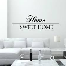 nice wall quotes for modern living room with white furniture