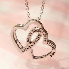 and granddaughter necklace granddaughter never forget that i you 2 heart necklace