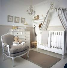 Chandelier Baby Room Stylish White Themed Nursery Room With Bear Theme Wall Decals