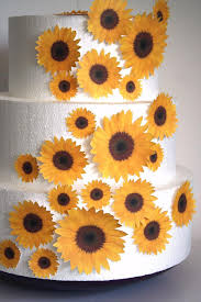 edible cake decorations edible flower cake decorations yellow edible sunflowers set of