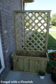 frugal with a flourish how to build a lattice planter box