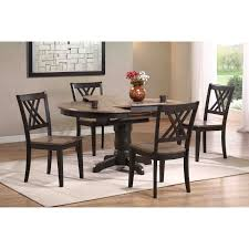Round Dining Sets Iconic Furniture 5 Piece Oval Dining Table Set Gray Stone