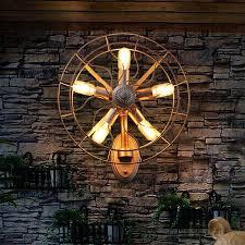 Fan Lighting Fixtures Novelty Retro Loft Vintage Fan Industrial Wall L Sconces