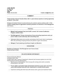 financial security advisor resume template premium resume