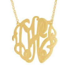 monogram initials necklace monogram initial necklaces custom initial pendants