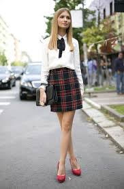 plaid skirt 25 ways to style plaid or checkered skirts 2017 fashiontasty