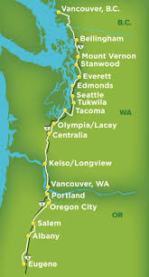 Amtrak Map East Coast by Amtrak Cascades In Business Class Great Views Getting On Travel