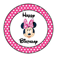 minnie mouse birthday 24 personalized minnie mouse happy birthday party favor labels