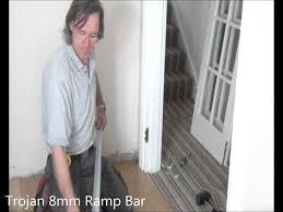 Klikka Laminate Flooring Part 6 Installing Stick Down Door Bars On To Wood Floors Youtube