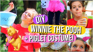 diy winnie the pooh and piglet halloween costumes youtube