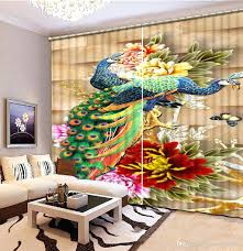 peacock decor for home decorations fashion 3d home decor beautiful peacock 3d curtain