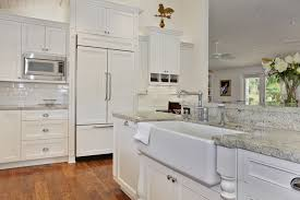 White Granite Kitchen Sink Granite Composite Kitchen Sinks Kitchen Traditional With Apron