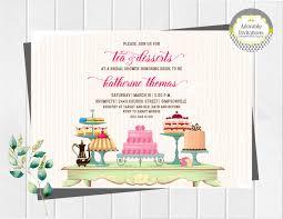 tea and desserts bridal shower invitation tea party