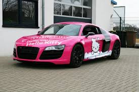 pink audi convertible audi r8 hello kitty is horrendously adorable