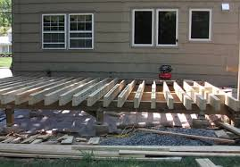 how to build a free standing deck on the cheap part 1