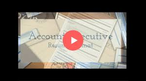 Account Executive Resume Account Executive Resume Format Youtube