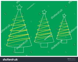 trio tree yellow ribbon style stock vector 720648235