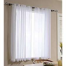 63 White Curtains Best Dreamcity Faux Linen Sheer Curtains For Bedroom