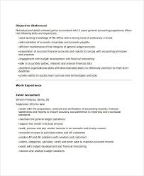 Junior Accountant Sample Resume by 31 Accountant Resume Samples Free U0026 Premium Templates
