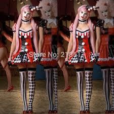 Womens Clown Halloween Costumes Aliexpress Buy Women Carnival Harley Quinn Cosplay Costume