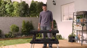 Keter Folding Work Bench Review Keter Folding Work Table Ex Extendable Legs Youtube