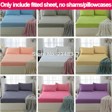 Sofa Bed Fitted Sheet Solid Color Plain Single Twin Full Queen King Size Fitted Sheet