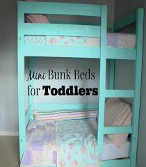 Crib Size Toddler Bunk Beds My Deers Diy Mini Bunk Beds For Toddlers Costs Less Than