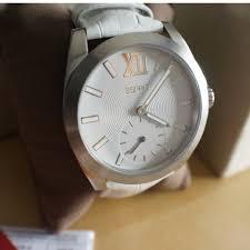 Jam Tangan Esprit Malaysia esprit meridiana leather es103592003 white s