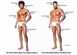 men s perfect body according to men and women bluebella lingerie survey