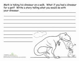 dinosaur story starter worksheet education com