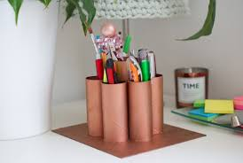 toilet paper roll desk organizer sonia s upcycled toilet roll pen holder refashion nation