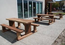 Heavy Duty Wooden Timber Outdoor Cafe Tables Melbourne - Heavy patio furniture